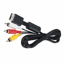 USA RCA A/V AV TV Audio Video Composite Adapter Cord Cable for Sony Playstation
