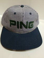Ping Golf Rare Checkered Pattern Hat Cap Adjustable Strap Back