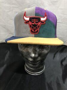 New CHICAGO BULLS Mitchell & Ness NBA Multi Color Snapback Hat Cap NZ28Z RARE 🔥