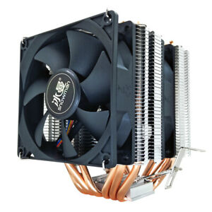 PROFESSIONAL CPU COOLER 6 Heat copper PC quiet for INTEL and AMD 4 pin connector