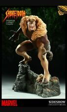SIDESHOW EXCLUSIVE SABRETOOTH STATUE MINT IN ORIGINAL BROWN SHIPPER WOW!!