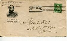 1898 Benjamin Franklin One Cent 1c Stamp George G. Meade Post Pennsylvania Cover
