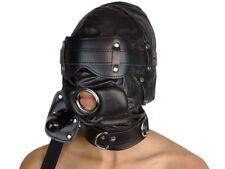 Isolationsmaske mit Knebel Ledermaske Leder Maske Schwarz Art.Nr. 659