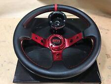 Steering Wheel Deep Dish Red Black+ Black Hub Polaris RZR 800/900/1000 Can-Am X3