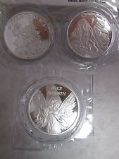 Christmas nativity  angel wish tree  3 oz  .999 fine silver round coins