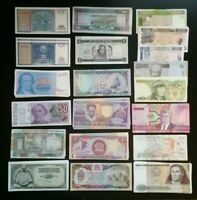 LOT 20 UNC Different WORLD BANK NOTES From 16 Foreign Countries Better MIX INCL