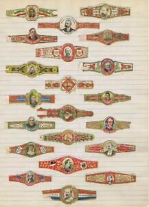 Mexican portraits  21 cigar bands will soak Royalty Victoria Napoleon    #274
