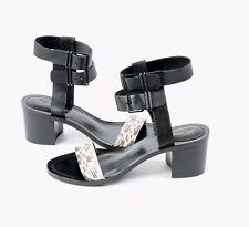Women's NEW Pour La Victoire Shoes DAGNEY Black Marble Heels Size 8 Sandals