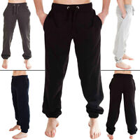 Mens Trouser Fleece Close Hem Jogging Tracksuit Joggers Gym Sweatpants Loose Fit
