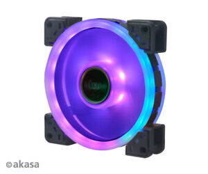 Akasa AK-FN101 Vegas TLX Dual Sided Addressable RGB LED Cooling Fan 120mm