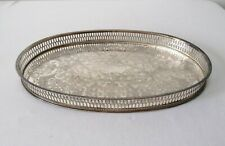Vintage Silver Plated Viners of Sheffield Chased Serving Tray