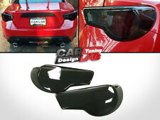 Black Smoked Acrylic TailLights Rear Lights Aggressive Overlay Cover Panels Set