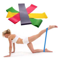 Resistance Band Loop Yoga Pilates Home GYM Fitness Exercise Workout Training UK