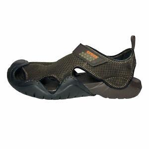 Crocs Swiftwater Sport Sandals Brown Mesh Hook Loop Fishing Water Sandals 13M