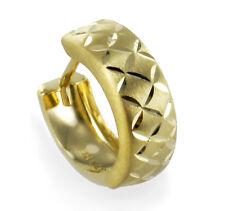ECHT GOLD *** Herren Single-Creole Ohrring diamantiert 13 mm