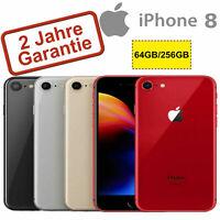 iPhone 8 - 64GB/256GB - A+/A/B-Qualität - SPACEGRAU SILBER GOLD ROT - DHL - OVP