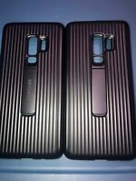 Lot Of 2pc Original Samsung Galaxy S9 Plus Rugged Protective with Kickstand Case