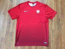Poland National Team NIKE AUTHENTIC DRI FIT Futbol Football Sz XL Soccer Jersey!