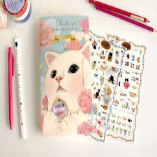 Choo Choo Cat Sticker Set Album 8 Sheets Paper and PVC Scrapbooking Diary deco
