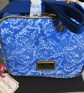 Lilly Pulitzer Insulated Lunch Box Turtley Awesome With Crossbody Strap NWT