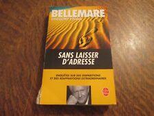 le livre de poche sans laisser d'adresse - PIERRE BELLEMARE & GREGORY FRANK