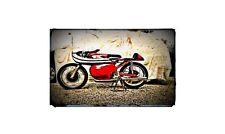 1964 Moto Morini 250Cc Bike Motorcycle A4 Retro Metal Sign Aluminium