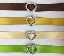 50 Acrylic 'Heart' Ribbon Slider Buckle 2.5cm Scrapbooking Wedding Invitations