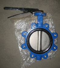 """6"""" Industrial Valco Lug Butterfly Valve, Lev Handle, Stainless Disc"""