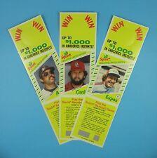 Années 1980 topps baseball Bouteille Porte-cartes-Carter, JACKSON & Sutter