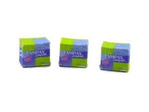 1:12 Dolls house Miniature tampax box-accessories-packet-shop-chemist