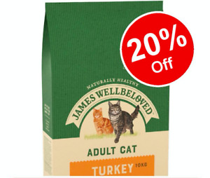 James Wellbeloved Turkey and Rice Complete Dry Adult Cat Food - 10 kg