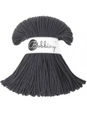 Bobbiny koord color: CHARCOAL / 100% Cotton 5mm Bobbiny Rope 100m Macrame Cord