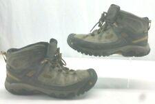 KEEN 1017787 Mens Targhee III Mid WP Boots Black Olive Golden Brown Size 12