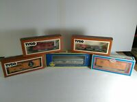 TYCO AHM MODEL POWER Lot of 6 used cars in Original boxes! Great Vintage Set!