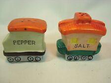 Vintage Figural Railroad Train Caboose Salt and Pepper Shakers