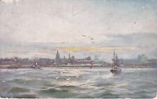 NO 311 - LIVERPOOL FROM THE MERSEY - TUCK OILETTE  #7247 - UNPOSTED