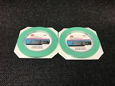"2-3M Fine Line Mint Green Precision Masking Tape,1/4"" x 60 yards(3M-6525, 06525)"