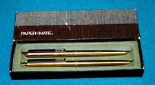 "1970s Vintage : PAPER MATE ""Executive"" PEN & PENCIL SET : Double Heart @ U.S.A."