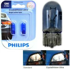 Philips Crystal Vision Ultra 12961 5W Two Bulbs License Plate Light Stock OE