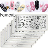 Harunouta Rectangle Stamping Plates Flowers Animals Culture Nail Art Templates