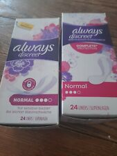 Always Discreet Liners 24 Liners * 2 packs- for sensitive blader