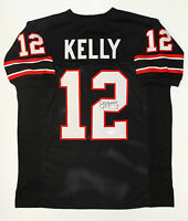 Jim Kelly  Autographed Black Pro Style Jersey- JSA W Authenticated *2
