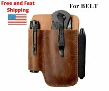 Edc Leather organizer Belt Loop Knife Sheath for 5 inch Knives, Leather Tool Usa