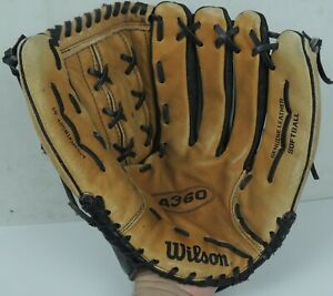 "Wilson A360 Baseball Softball Glove 14"", Black & Tan Leather (A2581KMES14) RHT"