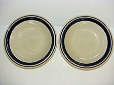 CONTEMPORARY CHATEAU STONEWARE cobalt blue SERVING BOWL ROUND LOT OF 2