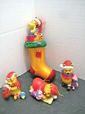 x4 Disney Holiday Christmas Tree Home Decorations Winnie The Pooh Tigger Piglet