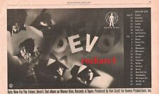 DEVO USA Tour Dates 1979 UK Press ADVERT 10x6 inches