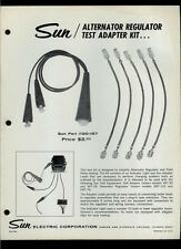 Rare Vintage Sun Electric Alternator Regulator Test Adapter Kit Dealer Sheet