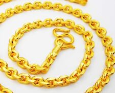 Chain Necklace Gold Plated 22K 23K 24K Thai Baht 25 inch Jewelry  65 Grams 7 mm