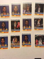 RARE 1990-91 PITT PANTHERS FOODLAND BASKETBALL CARD SET -  12 CARDS
